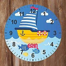 Precision Design Under The Sea - Kids Boat Clock -