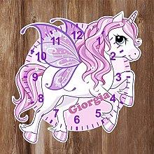 Precision Design Unique Unicorn Shaped Kids Clock