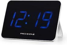 Precision LED Radio Controlled Clock, Black/White