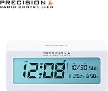 Precision Radio Controlled Alarm Clock - White