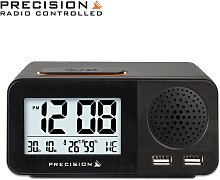 Precision Radio Controlled USB Dual Alarm Clock