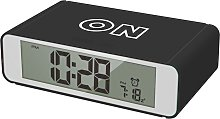 Precisions Flip Alarm Clock - Black