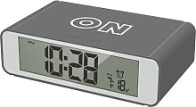 Precisions Flip Alarm Clock - Grey