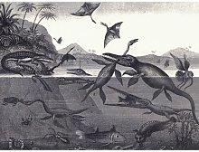 Prehistoric Animals of the Lias Group Art Print