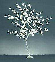 Premier 1.2m White LED Rose Flower Tree - Garden