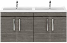 Premier - 1200mm Wall Hung Cabinet & Double Basin