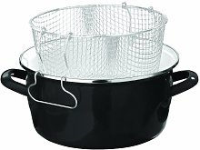 Premier 5 L Deep Fryer with Pyrex Lid Black