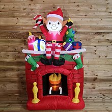 Premier Christmas 2M Light Up Fireplace Inflatable