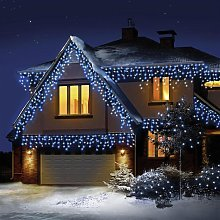 Premier Decorations 480 LED Icicle Lights- Blue