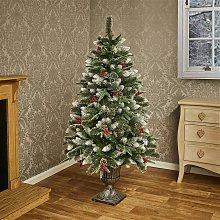 Premier Decorations 5ft Pre-lit Needle Pine Tree -