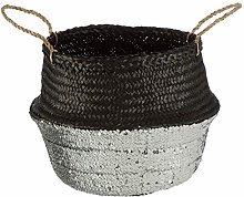 Premier Houseware Algae Basket, Black/Silver,