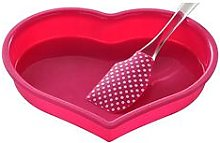 Premier Housewares 2 Piece Silicone Heart Baking