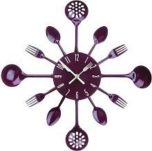 Premier Housewares 2200668 Purple Wall Clock