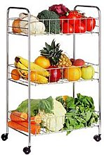 Premier Housewares 3-Tier Food Storage Cart