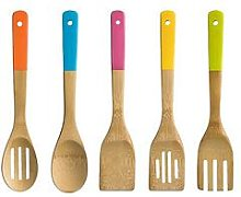 Premier Housewares 5 Piece Bamboo Utensil Set