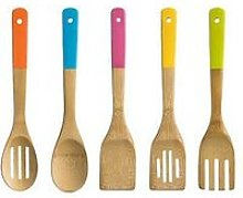 Premier Housewares 5 Piece Bamboo Utensil Set