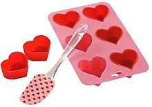 Premier Housewares 8 Piece Silicone Heart Baking