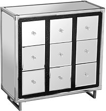 Premier Housewares 9-Drawer Mirrored Cabinet with