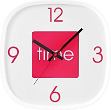 Premier Housewares Arco Wall Clock - Hot Pink