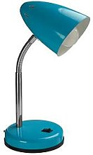 Premier Housewares Ava Desk Lamp - Blue