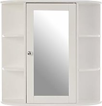 Premier Housewares Bathroom Cabinet, Mirrored Door