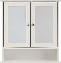 Premier Housewares Bathroom Cabinet, Mirrored