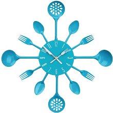 Premier Housewares Blue Wall Clock Kitchen Themed