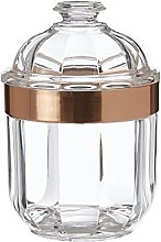 Premier Housewares Clear Canister, Acrylic, Rose