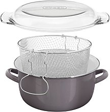 Premier Housewares Deep Fat Fryer Chip Pan Glass