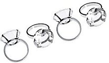 Premier Housewares Diamante Napkin Rings Set Of 4