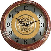Premier Housewares Distressed Wall Clock - Red