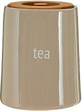 Premier Housewares Fletcher Tea Canister - Beige