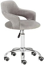 Premier Housewares Georgie Velvet Office Chair-
