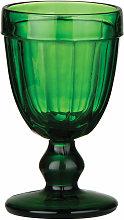 Premier Housewares Glass Green Sundae Goblet