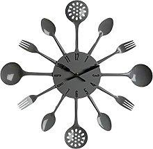 Premier Housewares Grey Wall Clock Kitchen Themed