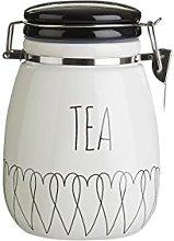 Premier Housewares Heartlines Tea Canister,