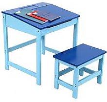 Premier Housewares Kids Desk And Stool Set- Blue,
