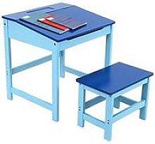 Premier Housewares Kids Desk And Stool Set- Blue