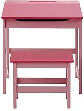 Premier Housewares Kids Desk And Stool Set- Pink