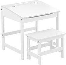 Premier Housewares Kids Desk And Stool Set- White,