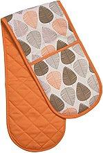 Premier Housewares Leaf Double Oven Glove - Orange