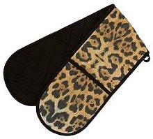 Premier Housewares Leopard Double Oven Glove