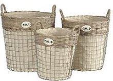Premier Housewares Lida Laundry Baskets - Set Of 3