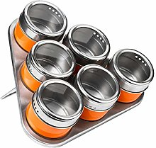 Premier Housewares Magnetic Tray with 6 Spice Jars