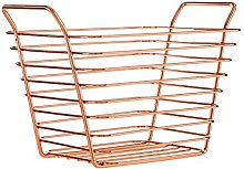 Premier Housewares Metal Wire Basket Metallic Rose