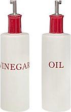 Premier Housewares Oil Dispenser Bottles Red/Cream