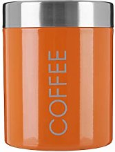 Premier Housewares Orange Enamel Coffee Canister,