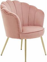 Premier Housewares Ovala Pink Velvet Scalloped