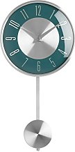 Premier Housewares Pendulum Wall Clock, Metal, Blue