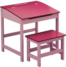 Premier Housewares Pink Childrens Table And Chair